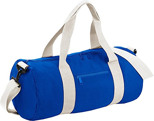 (One Size, Bright Royal/ Off White) - VIMUK Varsity Barrel / Duffle Bag (20 Litres)