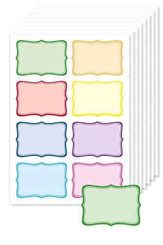 Rahmen', selbstklebend, zum Bedrucken und Beschriften von Gläsern, Schulheften uvm, leicht ablösbar ()