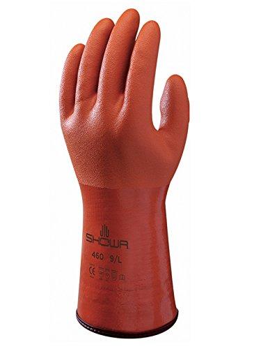 Showa Handschuhe SHO460-M Nr. 460isolierter Handschuh, Größe: M, in orange.