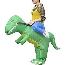 LaoZan Disfraz de Halloween Inflable T-rex Dinosaurio Disfraz Traje de niños Niño