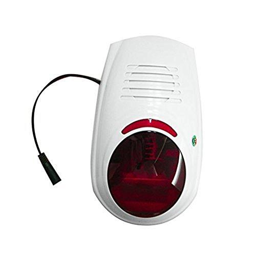 ABTO Sistema di allarme Sirena esterna senza fili con Flash