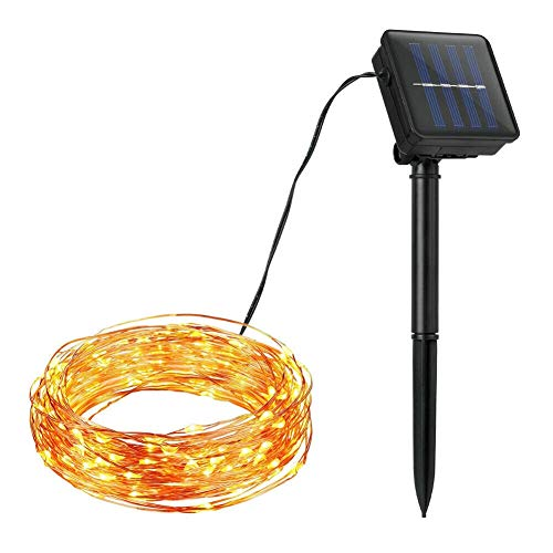 Yamer wasserdichte Outdoor Solar Fairy String Licht Für DIY Party Halloween Weihnachten Hochzeit Dekoration, 39FT100LEDs