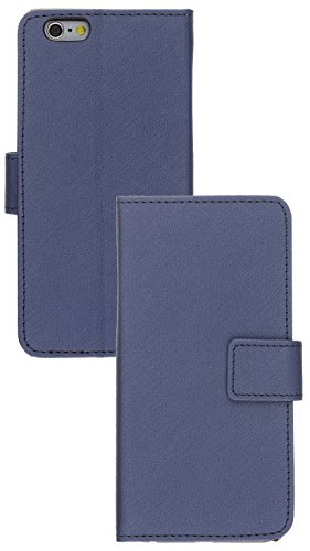 Pro-Tec Executive Schutzhülle Leather Effect Folio Book Case Cover in Lederoptik für iPhone 6/6S - Rot Blau