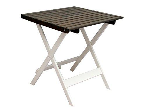 Ambient home Table de jardin/terrasse LOTTA Blanc/Gris Taupe 65 x 65 x 70,5 cm 90478