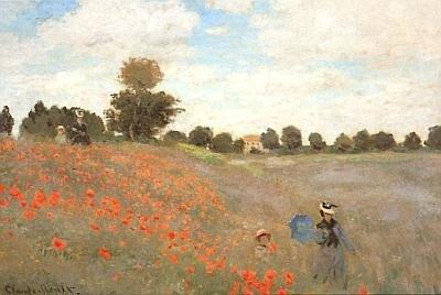 Kunstkarte Monet Die Mohnblumen