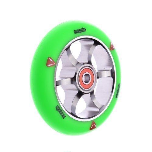 Preisvergleich Produktbild Anaquda Spoked Wheel Green / Titan 110 mm