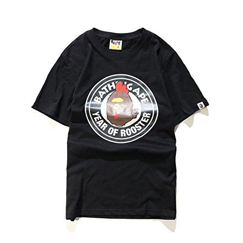 BOMOVO Herren BAPE T-Shirt Super Premium von M L XL XXL Schwarz