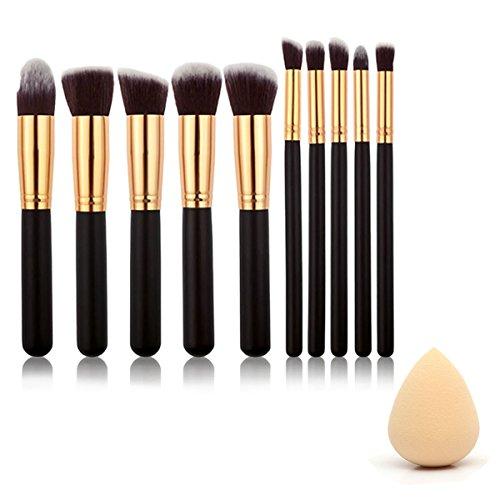 Vococal® 10 Pcs Maquillage Maquillage Pinceaux de Maquillage et L'Eau Goutte Forme Éponges Beauté Outil Maquillage Houppette Couleur Aléatoire