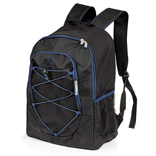 CampFeuer Kühl Rucksack 30L Kühlrucksack Kühltasche groß wasserdicht Ultraleicht Damen und Herren Cooler Bag für BBQ Camping Picknick Wandern Arbeit (Schwarz)