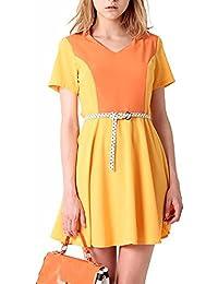 Clang GALANSKY Mustard ropaque vestido