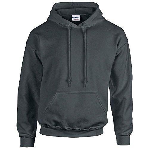 Gildan - Unisex Kapuzenpullover 'Heavy Blend' , Charcoal, Gr. L - Kapuze Weiße Lederjacke Mit