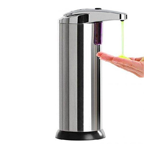 Careshine Dispensador de jabón líquido de acero inoxidable con sensor infrarrojo automático, acero inoxidable, Total Steel