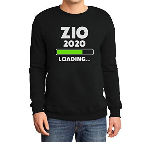 Shirtgeil Zio 2020 Loading Idea Regalo per Futuro Zio Felpa/Maglione da Uomo Medium Nero