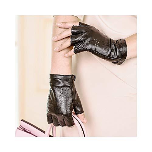 Guanti Donna Inverno Caldo Guanto Premium Qualità morbida pelle con tacco Moda Nero