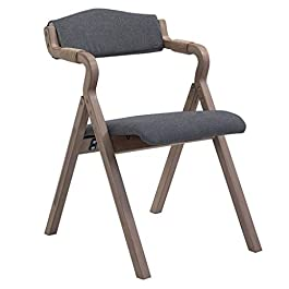 Chaise de Salle à Manger Tabouret Pliante avec Accoudoirs Corde de Chanvre Confortable Dossier et Pouge Rembourré Assise…
