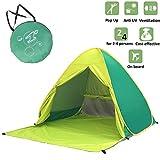 Voniry portable tenda automatica pop up beach ben ventilato esterna anti uv di sun shelter con la chiusura lampo porta per bambini e la famiglia a beach garden (2 ~ 4 persone) Verde