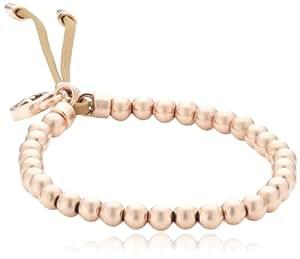 Michael Kors Damen Armband Leder Messing IP-Gold beige MKJ1155791