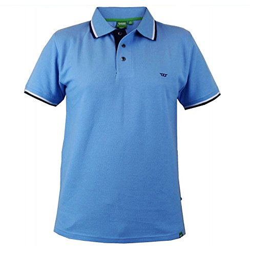 Hommes Duke Débardeur Grand Haut King Size Hommes Polo T-shirt Haut À Col Bleu - Bleu clair