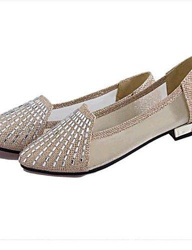 ShangYi Sandaletten für Damen Damenschuhe-Ballerinas-Lässig-Kunstleder-Flacher Absatz-Komfort-Rosa / Silber / Gold golden