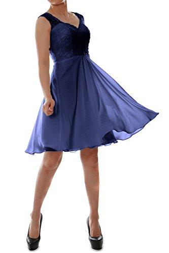 MACloth - Robe - Trapèze - Sans Manche - Femme azul marino oscuro