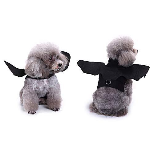 Ueb costume pipistrello di halloween per animali domestici vestito per cani e gatti domestici divertente costume natalizio (s)