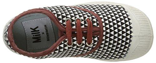 Bensimon Unisex-Kinder Tennis Milk Sneaker Multicolore (6048 Imprimé)
