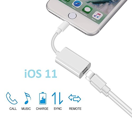Galleria fotografica Dual illuminazione cavo adattatore/Double Lightning cavo audio con ricarica sincronizzazione per iPhone 7Plus/iPhone 7/iPhone 6s Plus/iPhone 6s/iPhone 6Plus/iPhone 6