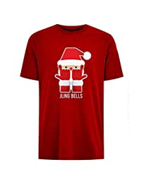 Jling Bells Childrens Unisex Red Christmas T-Shirt