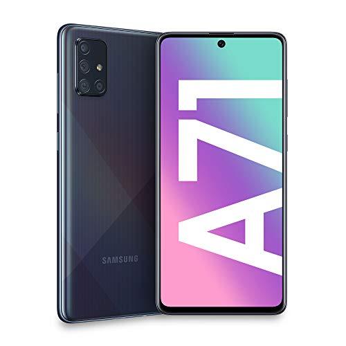 samsung smartphone galaxy a71, display 6.7 super amoled, 4 fotocamere posteriori, 128 gb espandibili, ram 6gb, batteria 4500 mah, 4g, dual sim, android 10, 179 g, (2020) [versione italiana], black