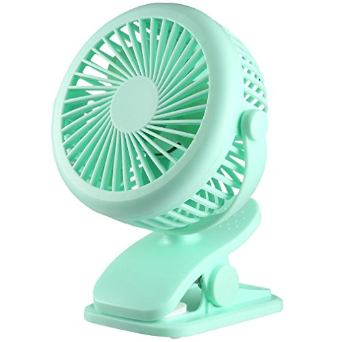 Chriskopher Mini Ventilator USB Fan für den Schreibtisch mit An/Aus-Schalter, Klein Handventilator PC Ventilator, 3 Geschwindigkeiten, Lüfter Geräuscharm für Büro, Zuhause und im Freien, Grün