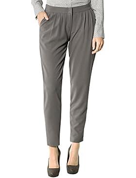 Daniel Hechter Damen Hose Mikrofaser Pant Unifarben, Größe: 36, Farbe: Grau