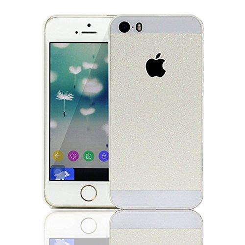 KSHOP Case Cover Stampa Custodia Protettiva per iphone SE /iphone 5 /iphone 5SShell Carcasa Trasparente Ultra Flessibile Colorato Ammortizzante Shock-Absorption Conchiglia - Bianco Blu bianco