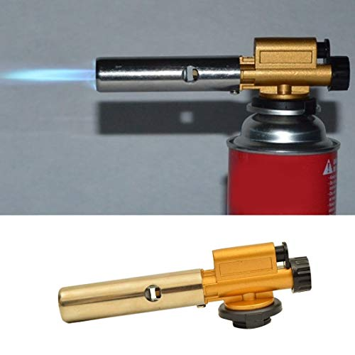 Gun Heat - 803 Electronic Ignition Copper Flame Gun Butane Gas Burners Maker Torch Lighter Picnic Cooking - Hoses Torches Case Welding Welding Torches Burner Flame Projector Outdoor Toilet St -
