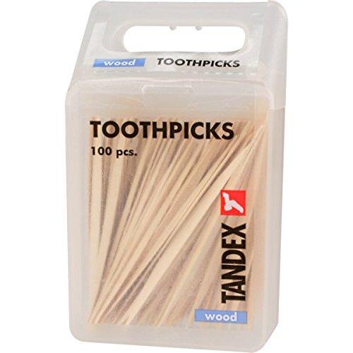 Tandex Zahnhölzer Zahnstocher Holz Toothpicks wood, 100 Stück
