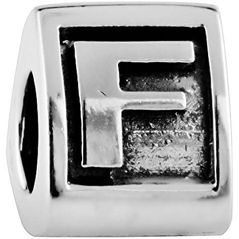 TAOTAOHAS antico numero alfabeto sterling 925 argento charms beads perline [ alfabeto A ] per bracciali