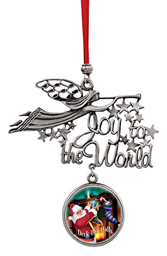 American Coin Treasures Weihnachtsdekoration, Bunte Münze, Weihnachtsdekoration, Joy to The World, Santa Deck The Halls JFK Half-Dollar-Münze (Santa-dollar)