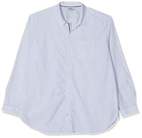 s.Oliver Big Size Herren 15.902.21.2426 Freizeithemd, Grün (Mystic Grove 68g8), XXXX-Large (Herstellergröße: 4XL) (Herren-nadelstreifen-hemd)