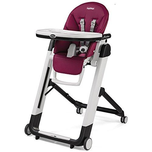 Peg Perego Siesta - Berry - Design-Hochstuhl mit Baby-Liegefunktion, Lederimitat-Bezug, magenta