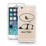 Blitz® PANDA Schutz Hülle Transparent TPU Cartoon SAMSUNG Galaxy Ich liebe Panda M6 S6 Edge PLUS