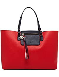 TOMMY HILFIGER Love Tommy Reversible Tote Red / Navy