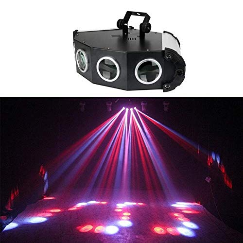FUTER Party Lights RGB 4 Objektiv Rot Grün Projektor DJ Disco Licht Mini LED Strobe Light Sound aktiviert Bühnenbeleuchtung mit Fernbedienung Indoor for Geburtstagsfeiern Hochzeit Karaoke (Laser-licht-show-maschine)