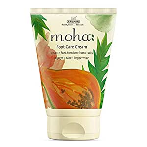 moha: Foot Cream For Rough, Dry and Cracked Heel, Feet Cream For Heel Repair With Benefits Of AleoVera, Papaya & Peppermint (50 Gram)