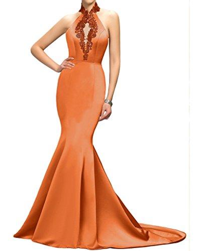 Missdressy - Robe - Dos ouvert - Femme Orange - Orange