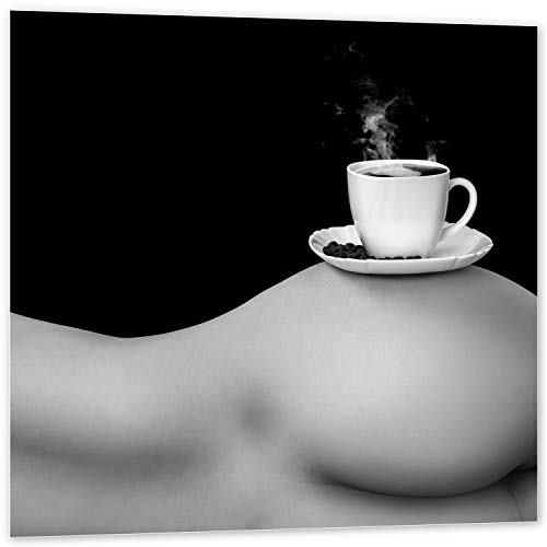 Topposter Sexy Poster - but First Coffee (Poster in Gr. 40x40cm) -