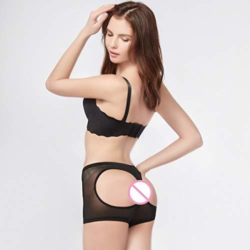 CNKM Frauen Butt Lifter Shaper Atmungsaktiv Mesh Panty Körper Schlanker Weiblich Bauch Kontrolle Boy Shorts Beute Lift Panties Pj, Schwarz, XXL -