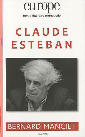 Europe, n° 971 mars 2010 : Claude Esteban / Bernard