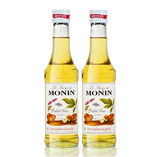 2x Monin Praline Nuss Sirup, 250 ml Flasche