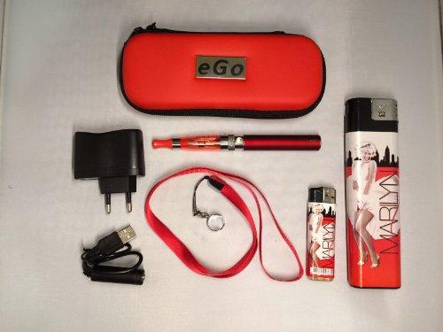 Estuche, Kit completo: cigarrillo electrónico rojo