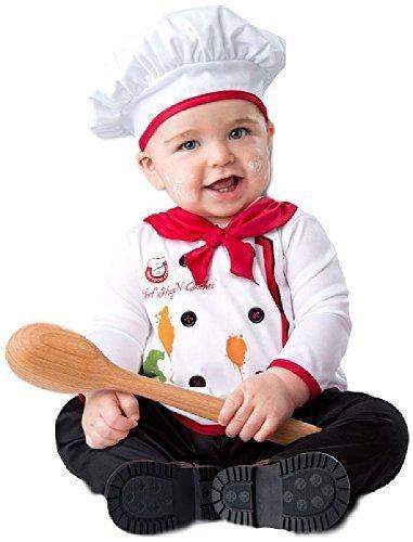 (Fancy Me Baby Jungen Mädchen Chefkoch Welttag des Buches Woche Job Karneval Halloween Kostüm Outfit Verkleidung 6-24 Monate - Rot, 18-24 Months)