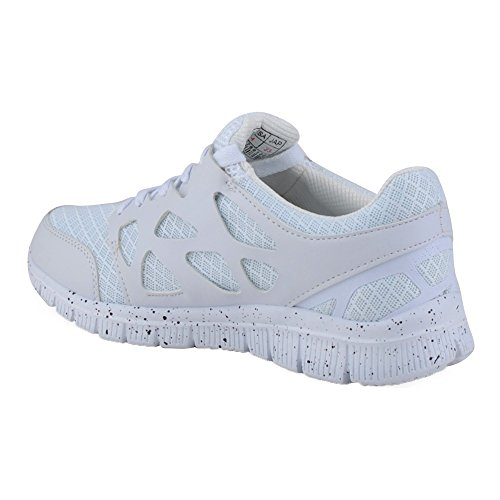 Herren Damen Sneaker Sportschuhe Lauf Freizeit Fitness Low Runners Unisex Schuhe Weiss-W